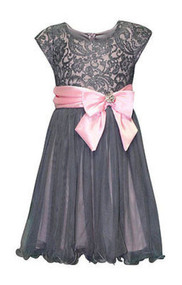 Girls Bonnie Jean Sequin Lace Dress