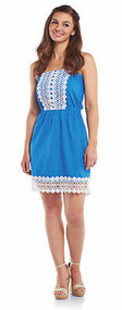 Mud Pie Bliss Dress Blue - Small