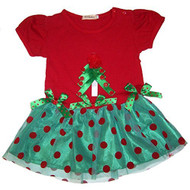 Baby Girls Christmas Ribbon Dress