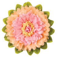 Tissue Paper Flower - Pink & Cantaloupe 15 Inch