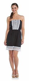 Mud Pie Black Bliss Strapless Dress, Small