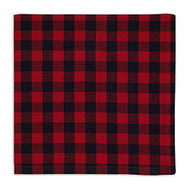 D.I.D. Red and Black Buffalo Check Cloth Napkins - Set of 4