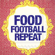 Food Football Repeat Cocktail Napkin
