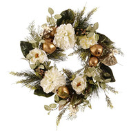 Peony and Pomegrante Wreath 24""