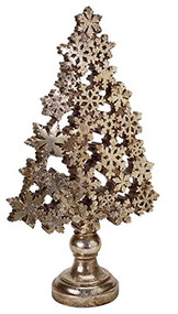 "Snowflake Christmas Tree Small 14.75""H"