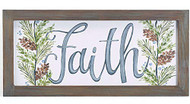 B B Faith Wood Wall Hanging Sign