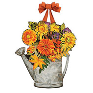 Autumn Pleasures Watering Can Door or Wall Decoration