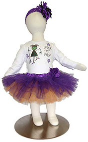 K K Baby Girls Halloween Onesie, Tutu Headband Outfit Under My Spell 6-12 Months