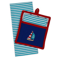 Sail Away Potholder Gift Set