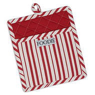 Red & White Stripe Potholder