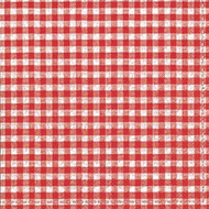 Red Check Luncheon Paper Napkins