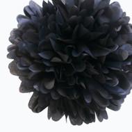 """Black 14"""" Party Tissue Pom Pom, Set of 4"""