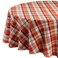 "Pumpkin Spice Plaid Tablecloth 60"" x 84"""