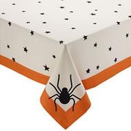 """Black Stars Tablecloth 60"""" x 84"""""""