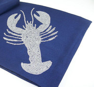 Blue Lobster Sequin Table Runner