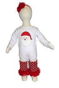 K K Baby Girls Santa Onesie, Leggings and Headband Outfit 6-12 Months