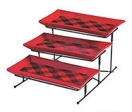Buffalo Plaid Three Tiered Server