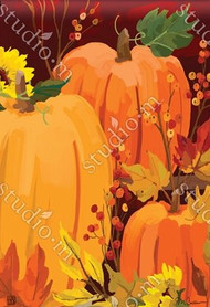 Harvest Pumpkins Garden Flag