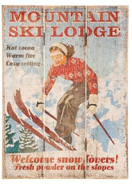 Mountain Ski Lodge Print