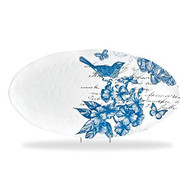 Indigo Cotton Oval Platter