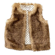 M P Baby Girls Faux Fur Vest (Large 4T to 5T)