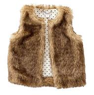 M P Baby Girls Faux Fur Vest (Large 4T to 5T)