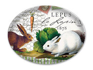 Bunnies Glass Soap Dish