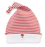 M P Infant French Knot Santa Cap 0-3 Months