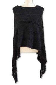 Black Knit Sweater Cape