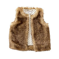 M P Baby Girls Faux Fur Vest (Medium 24 Months to 3T)