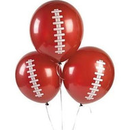 Football Balloons - Set of 12