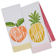 Peach Dish Towels - Set of 2