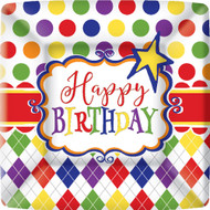 "Birthday Party Fun Dessert Paper Plates 7"" Set of 8"