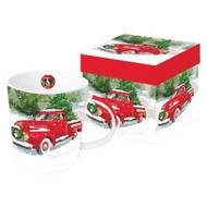 Red Truck Mug in Gift Box, hostess gift, teachers gift, holiday gift