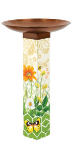 Studio M Daisy Garden Bird Bath Art Pole