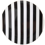 Black and White Stripe Plastic Plate Chargers - Set of 4, Holiday Chargers,
