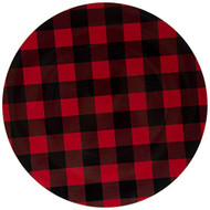 Black and Red Buffalo Check Plastic Plate Chargers - Set of 4, Holiday Chargers, Rustic Chargers