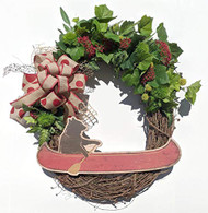 "Bear Canoeing 24"" Grapevine Wreath"