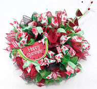 "Watermelon 26"" Wreath, Summer Wreath,"
