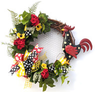 "26"" Grapevine Rooster Wreath, Farmhouse Wreath, Rustic Wreath"