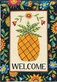 Floral Pineapple Garden Flag, Summer Flag, Welcome Flag