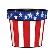 "Stars and Stripes Forever 6"" Planter, Patriotic Planter, Summer, Outside/Indoor, Gardening, Pot,"
