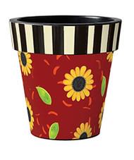 """Sunflower Leaves 12"""" Art Pot Planter"""