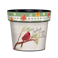 "Visitor from Heaven 6"" Planter, Floral Planter, Summer, Outside/Indoor, Gardening, Pot,"