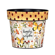 "Beauty is Everywhere 6"" Planter, Floral Planter, Summer, Outside/Indoor, Gardening, Pot,"