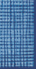 Blue Plaid Hostess Paper Napkin 16 count