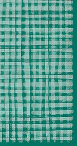 Green Plaid Hostess Paper Napkin 16 count