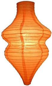 Orange Beehive Paper Lantern Set of 2