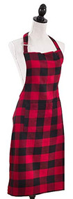 SAFA Red and Black Buffalo Check Apron