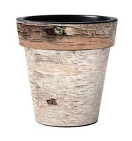 "Birch 12"" Planter, Outside Planter, Fall Planter, Winter Planter, Rustic Planter"